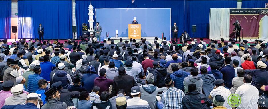 إمام الجماعة الإسلامية الأحمدية العالمية يلقي خطبة الجمعة من مدينة غيسن في ألمانيا