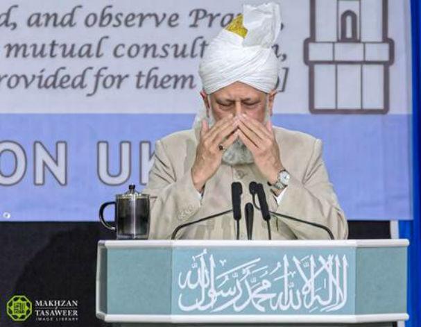 إمام الجماعة الإسلامية الأحمدية العالمية يخطب في مجلس الشورى في المملكة المتحدة